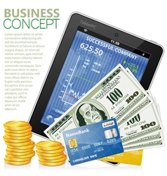 financial concept vector image vector image