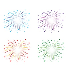 Fireworks colour set vector