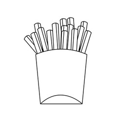 french fries fast food icon image vector image vector image