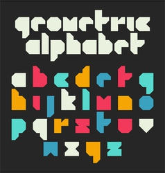 Geometric alphabet vector image vector image
