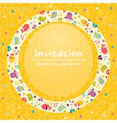 greeeting card vector image vector image
