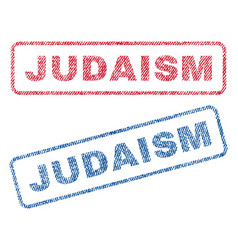 Judaism textile stamps vector