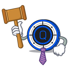 Judge qash coin mascot cartoon vector