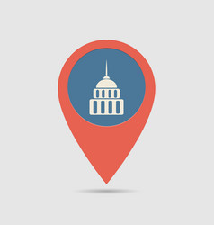 Map pin government vector