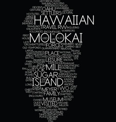 Molokai the best hawaiian island you ve never vector