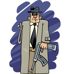 One armed bandit cartoon vector