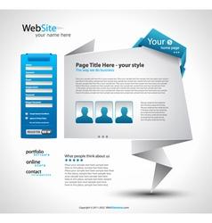 Origami website vector