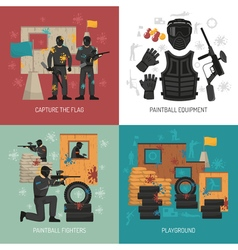 Paintball 2x2 Design Concept vector image