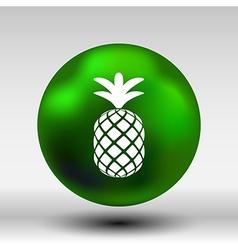 Pineapple closeup cartoon sketch hand drawn vector image