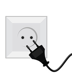 Plug and socket vector image vector image
