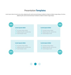 Presentation and infographic template column desig vector