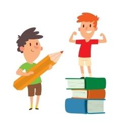 School kid character vector image
