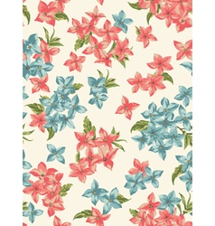 Seamless pattern with small flowers vector image