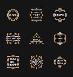 Set of Art Decorative Geometric Logo Templates vector image