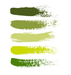 Set of grunge brush strokes set of vector