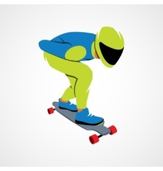 Skateboarder longboarding downhill vector image vector image