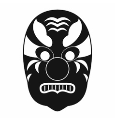 Tribal mask icon simple style vector