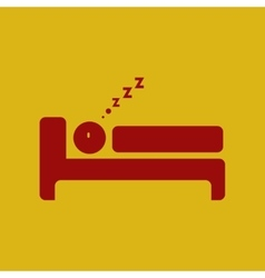 Man sleeping on bed vector