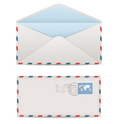 Postage envelopes with stamps vector image