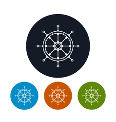 Icon ships wheel vector