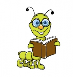 caterpillar holding book vector image