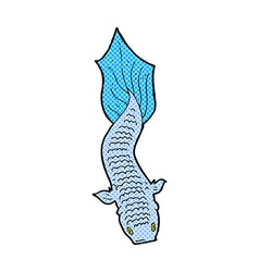 Comic cartoon fish vector