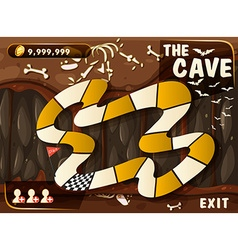 Game template with cave and bats vector