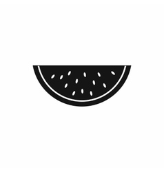 Piece of watermelon icon simple style vector
