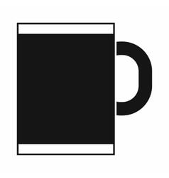 Tea mug icon simple style vector