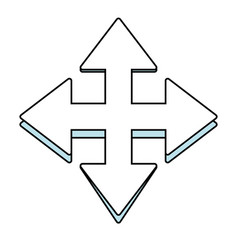 Arrow pointer symbol vector
