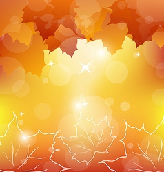 Autumn orange background with maple leaves vector image vector image