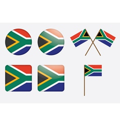 badges with South Africa flag vector image vector image
