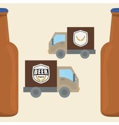 Beer design brewery icon beverage concept vector