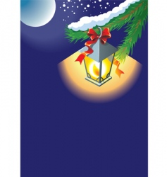 Christmas lantern background vector image vector image