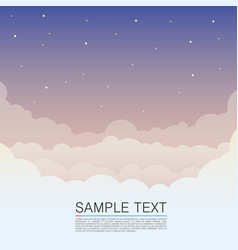 Clouds design over sky background night sky cover vector