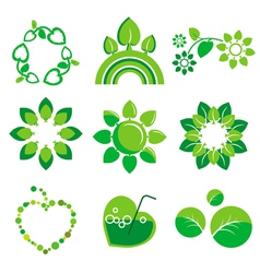 Collection of logos health and the environm vector