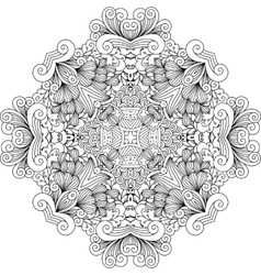 Colorless floral patterns with geometric elements vector