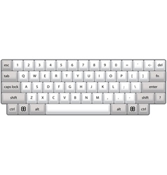 Computer keyboard vector