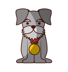 Cute dog mascot with medal vector