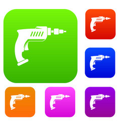 drill set color collection vector image