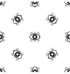 eye pattern seamless black vector image vector image