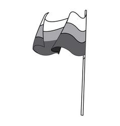 germany flag icon oktoberfest flag germany symbol vector image