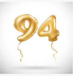 golden number 94 ninety four metallic balloon vector image vector image