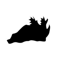 Hat black silhouette vector image