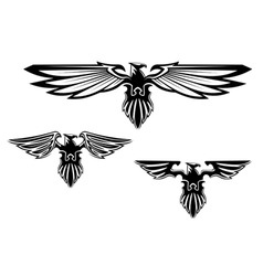 heraldry eagle symbols and tattoo vector image vector image