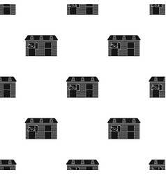 Horse stable icon in black style isolated on white vector