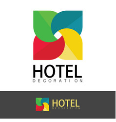hotel decoration logo vector image