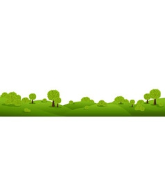 Landscape panorama vector