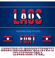 Laos flag font vector