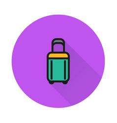 luggage icon on round background vector image